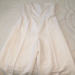 🎉 Strapless Wide Leg Jumpsuit - Size 10